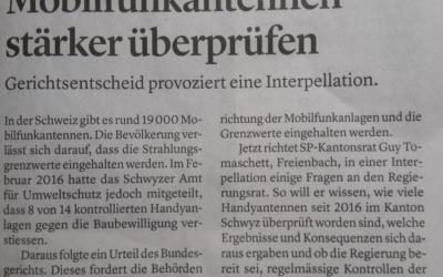 Mobilfunkantennen wieder ein Thema im Kantonsrat