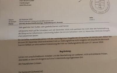 5G: Brunnen Waldstätterquai – Fristverlängerung