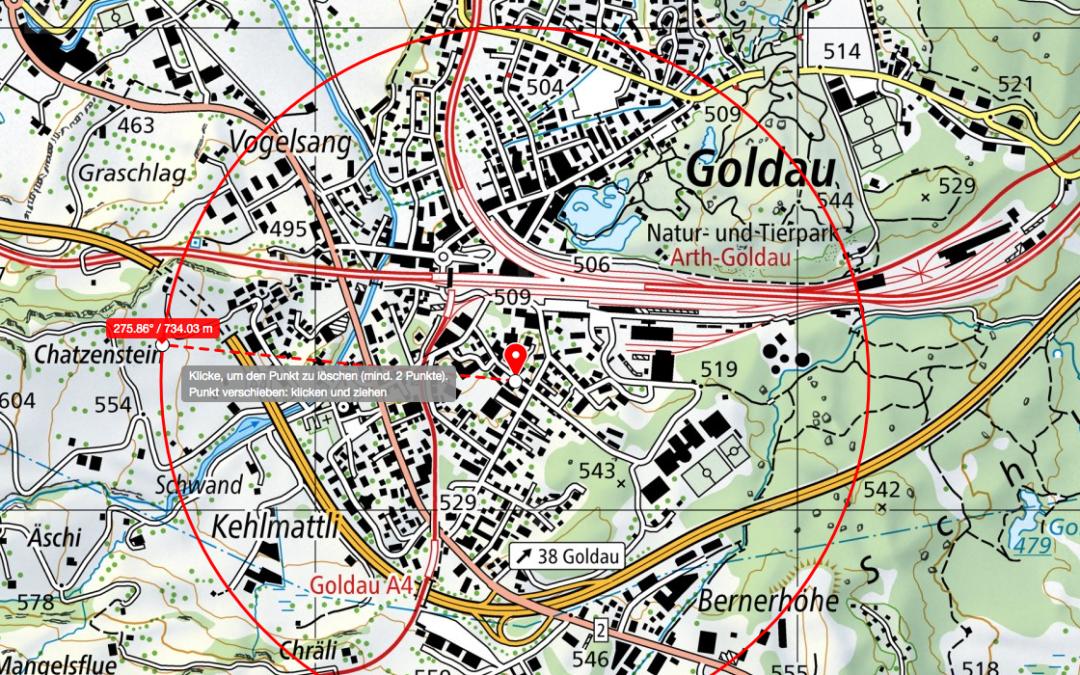 5G Goldau, Zaystr. 12: Ausbau/Umbau Sunriseanlage