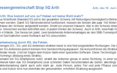 IG Stop 5G Arth rüttelt Bevölkerung wach